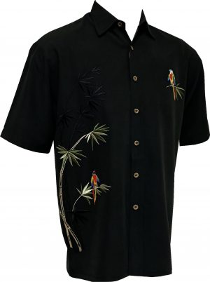 embroidered bamboo cay mens shirt